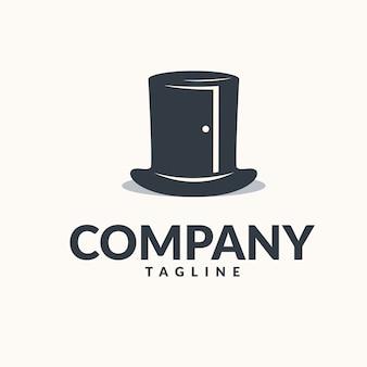 Logo de porte chapeau magique