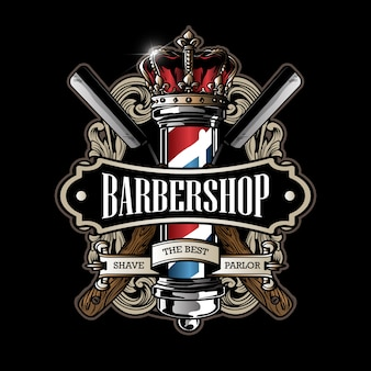 Logo de poteau de coiffeur