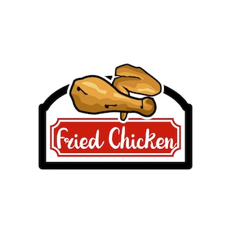 Logo De Poulet Frit Vecteur Premium