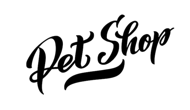 Logo pour animalerie pour animaux de compagnie illustration vectorielle isolée sur fond blanc