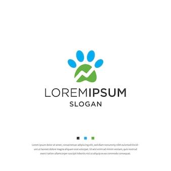 Logo pour animaux de compagnie modèle de conception d'icône illustration vectorielle