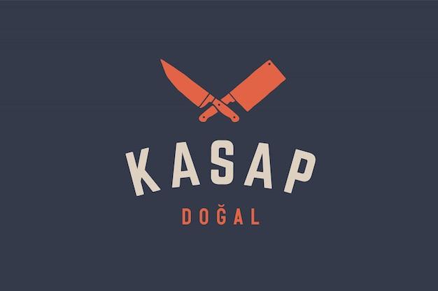 Logo pour boucherie charcuterie
