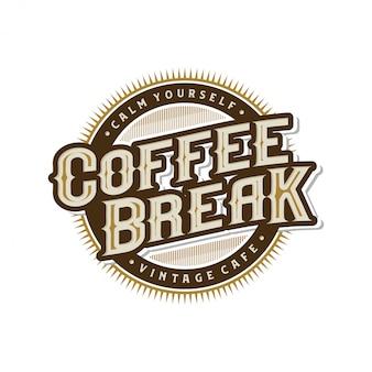 Logo pour les cafés ou étiquette de café