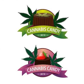 Logo pour les chocolats avec du cannabis pour votre créativité
