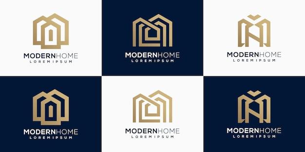 Logo pour l'immobilier, ensemble de logos