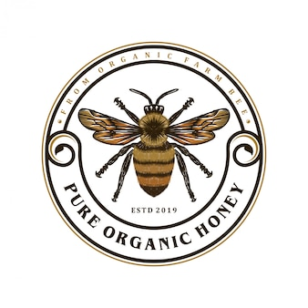 Logo pour les produits du miel ou les fermes apicoles
