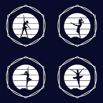 Logo pour un studio de ballet ou de danse illustration vectorielle