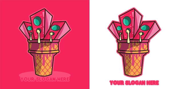 Logo pour vous si vous aimez la musique et aimez la crème glacée