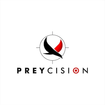 Logo de précision d'oiseau de proie de luxe