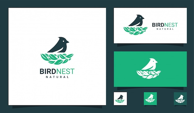 Logo premium nid d'oiseau