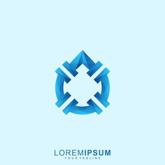 Logo premium de pipe à eau abstraite