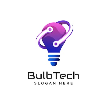Logo premium de technologie d'ampoule