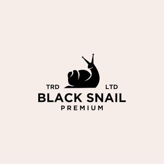 Logo premium vintage escargot noir