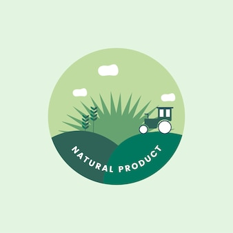 Logo de produit naturel bio