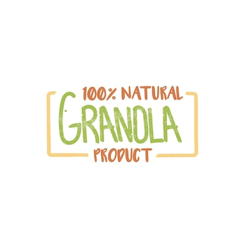 Logo de produit naturel granola 100 pour cent.