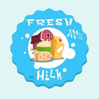 Logo de produits laitiers eco fresh farm