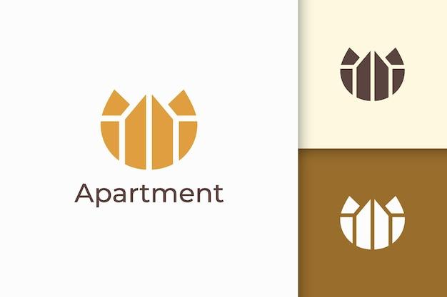 Logo de propriété ou d'appartement simple et propre pour les entreprises immobilières