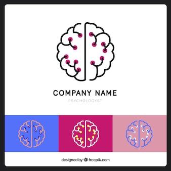 Logo psychologie avec des couleurs différentes