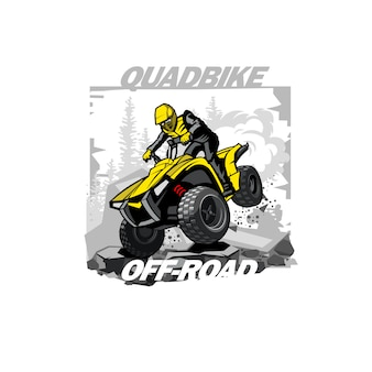 Logo quad bike off-road