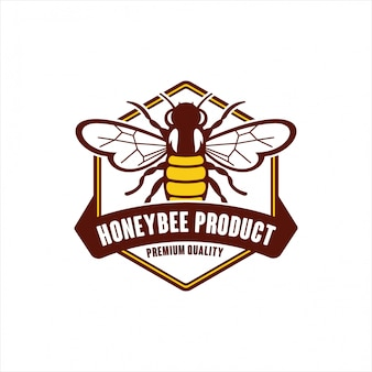 Logo de qualité premium produit honeybee