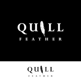 Logo quill avec stylo plume