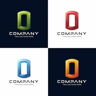 Logo ractangle 3d abstrait