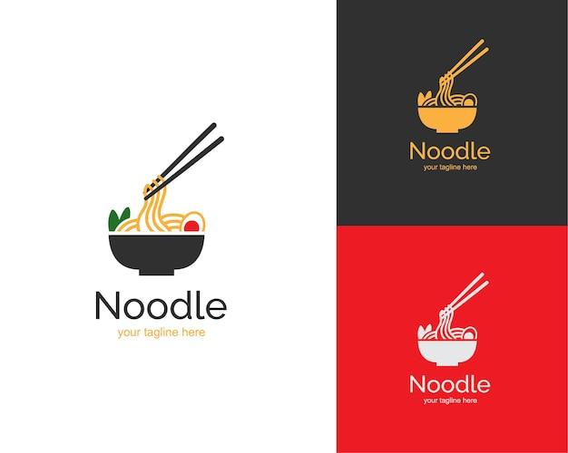Logo de ramen de cuisine japonaise