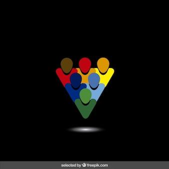 Logo réalisé avec des avatars colorés