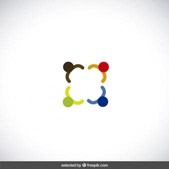Logo réalisé avec des formes colorées abstraites