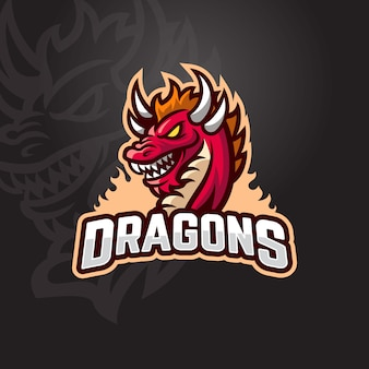 Logo red dragon esport