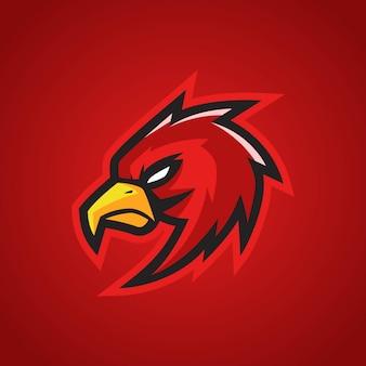 Logo de red hawk esports