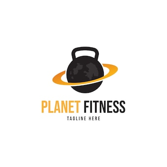Logo de remise en forme planète