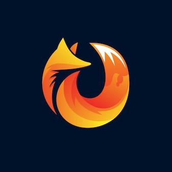 Logo de renard orange