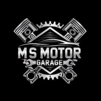 Logo de réparation automobile