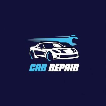 Logo de réparation de voiture