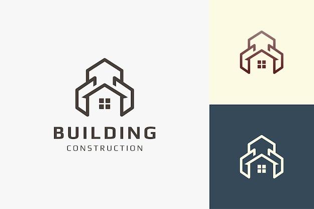 Logo de résidence ou d'appartement de forme simple pour les entreprises immobilières