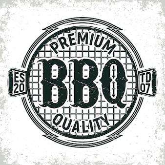 Logo de restaurant barbecue vintage