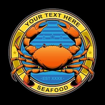 Logo de restaurant de crabe