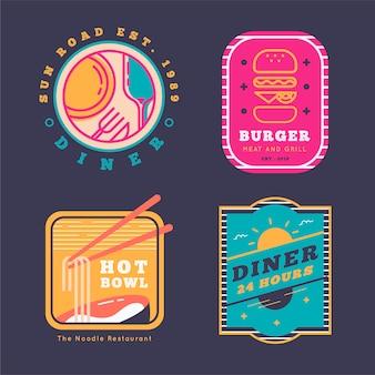 Logo de restaurant design rétro