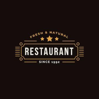 Logo de restaurant rétro