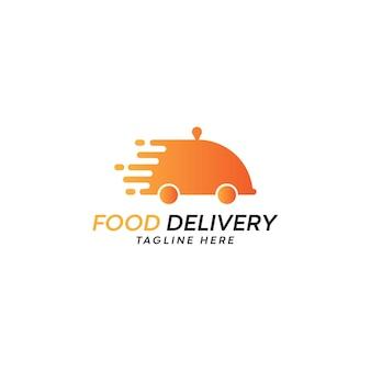 Logo de restaurant de vecteur de livraison de nourriture