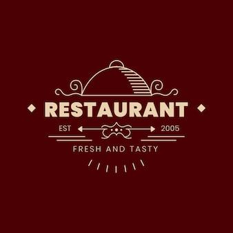 Logo de restaurant vintage