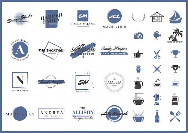 Logo rétro féminin pour bannière