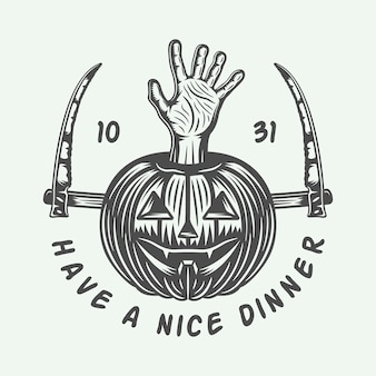 Logo rétro halloween