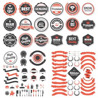 Logo rétro vintage pour bannière