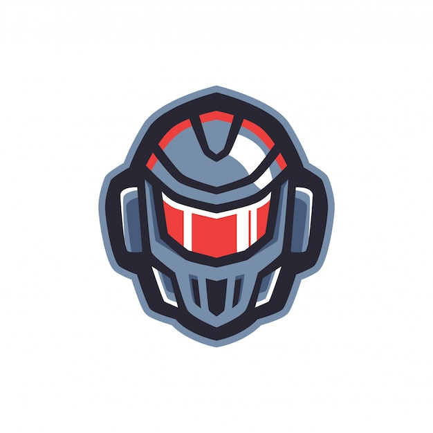 Logo de robot head sports