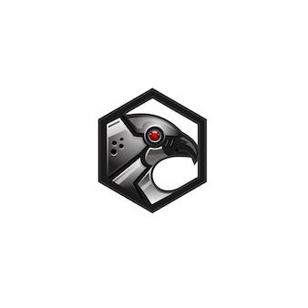 Logo robot oiseau