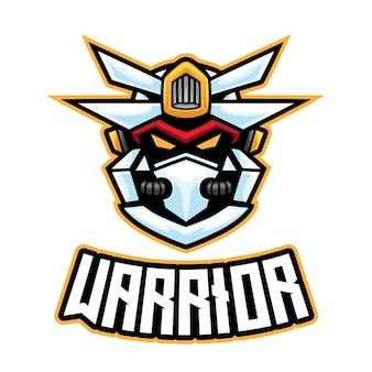 Logo de robot warrior esport