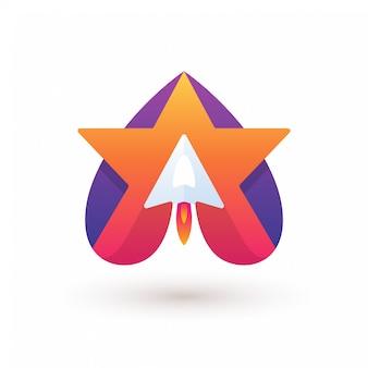 Logo rocket star