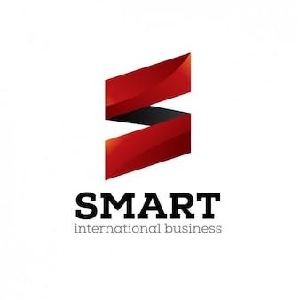 Logo rouge avec la lettre s